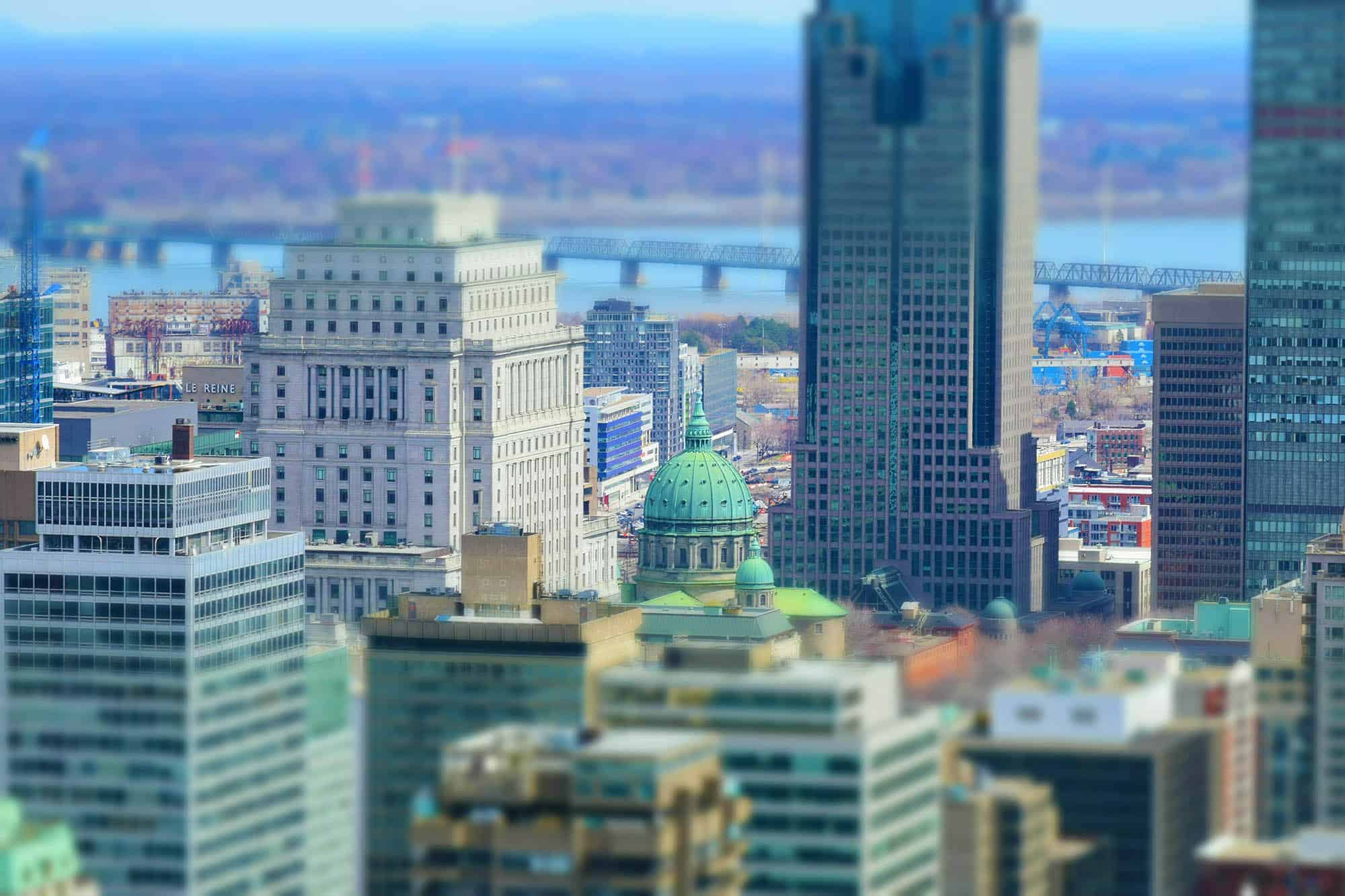Downtown Montreal Photo From Mont Royal