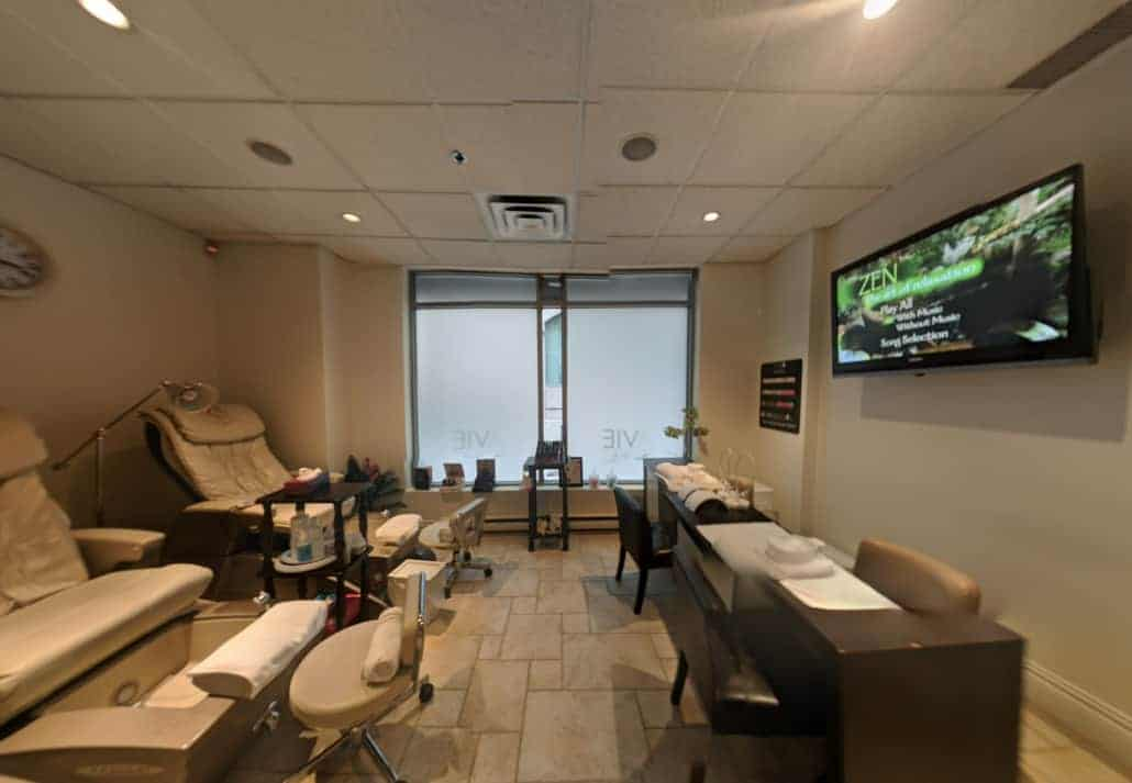 Massage Chairs and treatment room at Avie Spa